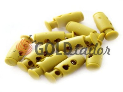 Buy retainer cord d = 4mm plastic two-hole 9mm * 21mm mustard