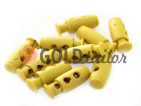 Fixator for cord d = 4mm plastic two-hole 9mm * 21mm mustard, 10 pcs
