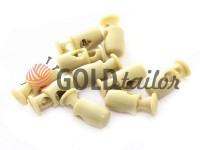 Fixator for cord d = 4mm plastic single hole 8mm * 18mm milk, 10 pcs