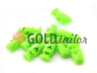 Fixator for cord d = 4mm plastic single hole 8mm * 18mm green, 10 pcs