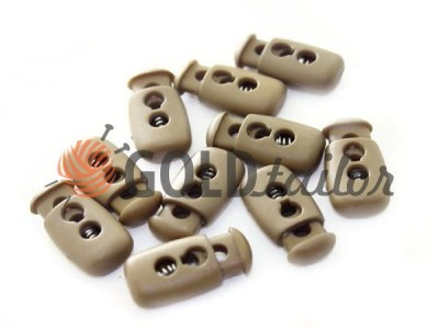 Buy retainer cord d = 4mm plastic two holes 12mm * 23mm brown