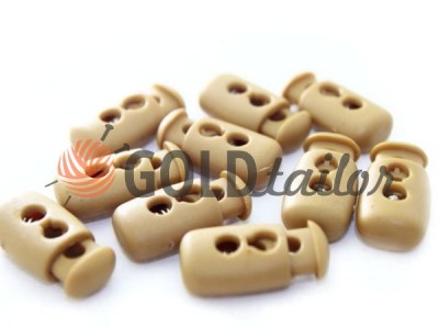 Buy retainer cord d = 4mm plastic two-hole 12mm * 23mm beige