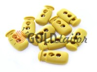 Fixator for cord d = 4mm plastic two-hole 12mm * 23mm mustard, 10 pcs