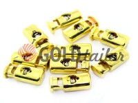 Fixator for cord d = 5mm plastic single hole 10mm * 22mm gold, 10 pcs