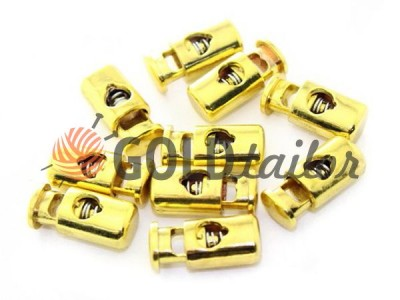 Buy retainer cord d = 5mm plastic single hole 10mm * 22mm gold