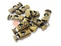 Fixator for cord d = 5mm plastic single hole 10mm * 22mm antique, 10 pcs
