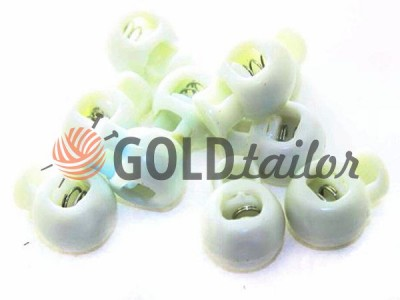 Buy retainer cord d = 8mm round single hole 17mm * 22mm white