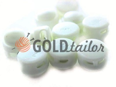 Buy retainer cord d = 5mm round two holes 12mm * 17mm white