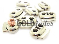 Fixator for cord d = 6 mm elips two-hole 21mm * 24mm nickel, 10 pcs