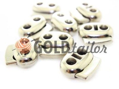 Buy retainer cord d = 6 mm oval two-hole 21mm * 24mm nickel