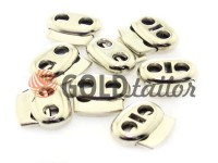 Fixator for cord d = 5mm elips two-hole 18mm * 20mm nickel, 10 pcs