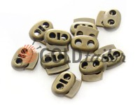 Fixator for cord d = 6 mm elips two-hole 21mm * 24mm antique, 10 pcs