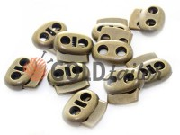 Fixator for cord d = 4mm elips two-hole 16mm * 18mm antique, 10 pcs