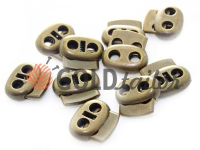 Buy retainer cord d = 4mm oval two-hole 16mm * 18mm Antique