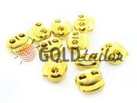 Fixator for cord d = 5mm elips two-hole 18mm * 20mm gold, 10 pcs