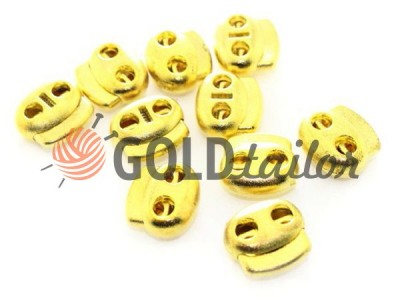 Buy retainer cord d = 5mm oval two-hole 18mm * 20mm gold