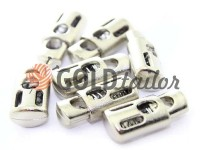 Fixator for cord d = 6mm sewing under the braid 8mm 18mm * 20mm nickel, 10 pcs