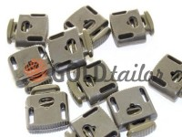 Fixator for cord d = 8mm sewing under the braid 8mm 22mm * 28mm olive, 10 pcs
