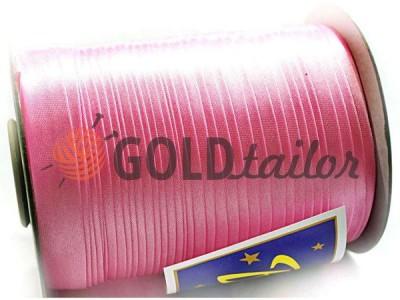 Купити Косая бейка Bias Star атласна рожева знижки на goldtailor