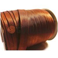 Коса бейка Bias Star атласна коричнева
