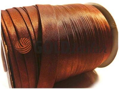 Купити Косая бейка Bias Star атласна коричнева оптом і в роздріб