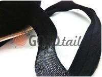 Bias binding stretch black