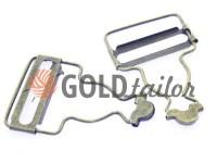 Carabiner buttons Loop antique 33 mm