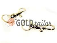 Карабін металевий для ключів під тасьму 13мм нікель 13 мм * 33 мм