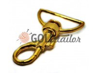 Metal Carabiner for bags under the braid 35mm gold 35 mm x 60 mm