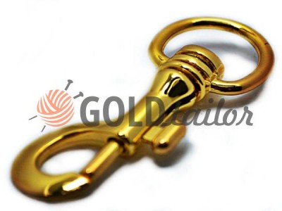 Metal Carabiner for bags under the braid 25mm Gold 25 mm * 80 mm