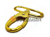 Metal Carabiner for bags under the braid 38mm gold 38 mm * 58 mm