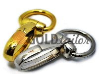 Metal Carabiner for bags under the braid 30mm gold nickel 30 mm * 80 mm