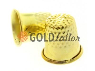 Наперсток металевий d = 17mm золото купити зі знижкою на SEWPLAY