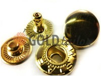 Кнопка NEWSTAR-Альфа №54 гладка 12,5 мм золото Туреччина, 72 шт