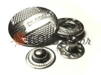 Кнопка Alfa Classic 15 mm, 20 mm никель Китай, 50 шт