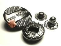 Кнопка Alfa Classic 15 мм, 19 мм темний нікель Китай, 50 шт