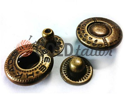 Buy button Alfa Fashion 15 mm Antique China Wholesale and Retail
