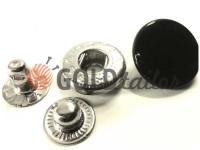 Кнопка Alfa гладкая 15 mm 17 mm 20 mm черная Китай, 50 шт