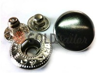 Кнопка NEWSTAR-Альфа VT-2 гладка 9,5 мм темний нікель Туреччина, 72 шт