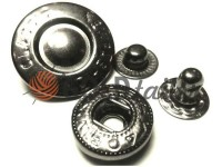 Кнопка Alfa Fashion 15 мм темний нікель Китай, 50 шт