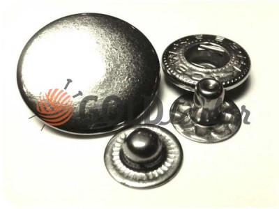 Buy button Alfa Smooth 15 mm, 19 mm Nickel China Wholesale
