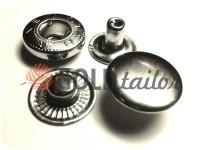 Кнопка NEWSTAR-Альфа VT-2 гладка 9,5 мм нікель Туреччина, 72 шт