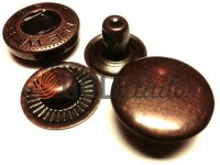 Кнопка NEWSTAR-Альфа VT-2 гладка 9,5 мм антик Туреччина, 72 шт