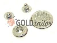 Кнопка Alfa Print 12 мм, 15 мм, 20 мм нікель Китай, 50 шт
