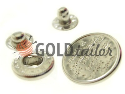 Buy wholesale Button Alfa Print 12 mm, 15 mm, 20 mm Nickel China