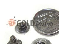 Кнопка Alfa Print 12 мм, 15 мм, 20 мм темний нікель Китай, 50 шт