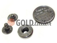 Button Alfa Print 12 mm, 15 mm, 20 mm black nickel China, 50 pcs