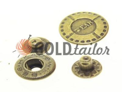 Кнопка Alfa Wear 17 mm антик Китай купити в Україні SEWPLAY