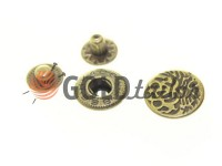 Button Alfa Abstract 15 mm antique China, 50 pcs