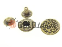 Кнопка Alfa Abstract 15 мм антик Китай, 50 шт